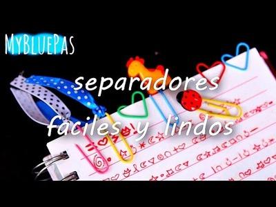 Cómo hacer Separadores faciles y lindos - MyBluePas