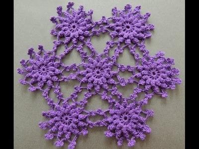 Crochet : Uniones Punto Piña en Relieve