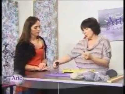 Hilados LHO en ARTEZ TV. Capa en telar de mesa.