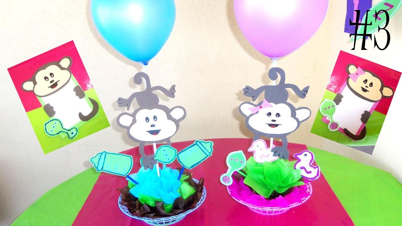 Invitaciones y centro de mesa para fiesta. COMBO BABY SHOWER Video #3