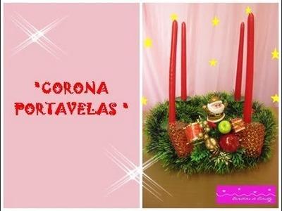 MANUALIDADES:Adorno Navideño: Corona Portavelas