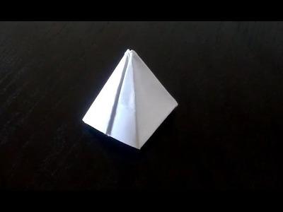 Pirámide de papel - Papiroflexia - Origami