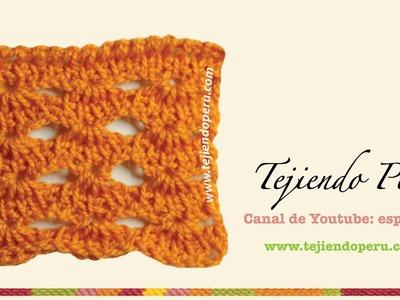 Punto fantasía  # 2 tejido en ganchillo tunecino