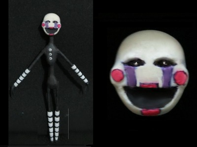 PUPPET - FIVE NIGHTS AT FREDDY'S - TUTORIAL - PLASTILINA - PORCELANA FRIA