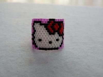 Tutorial anillo hello kitty