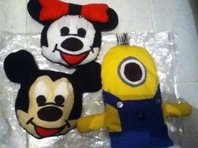 Tutorial de como hacer un peluche de Minions y de Mickey Mouse
