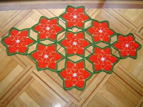 Como hacer camino de mesa a crochet  paso a paso DIY