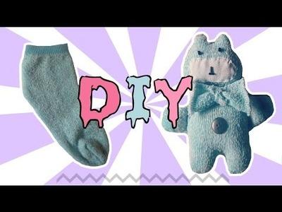Cómo hacer un oso con un calcetín-DIY.muy facil
