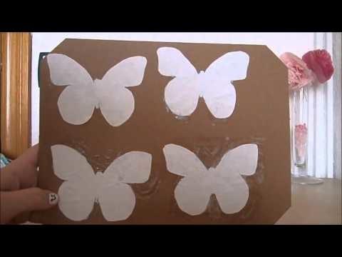 DIY  Decora tu habitación fácil y rápido con mariposas    ; )