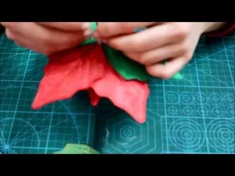 Diy Flor de Pascua de Goma Eva Navidad - El Rincón de Noe