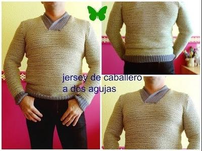 DIY:JERSEY DE CABALLERO A DOS AGUJAS