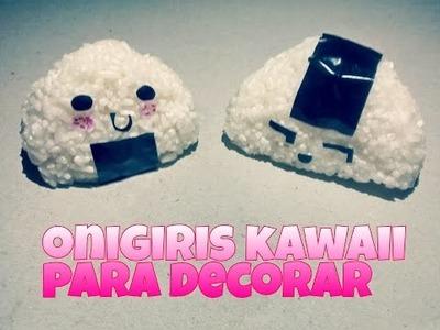 DIY: Onigiris kawaii de arroz para decorar tu habitación