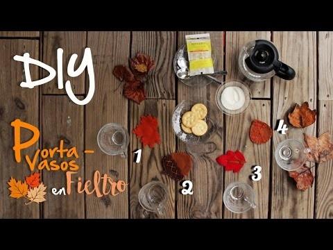 Porta Vasos Facil con Fieltro - DIY