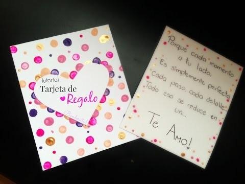 Tarjeta de regalo ♡ Tutorial DIY