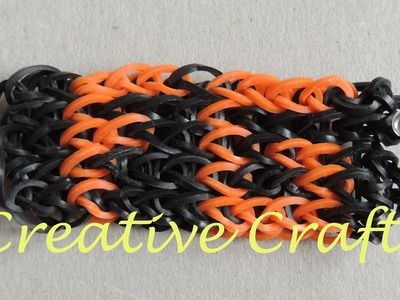 Abecedario para pulsera de gomitas  con nombre . F,G (Parte 3 ) Rainbow Loom bracelet