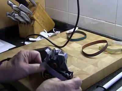 Afilando un cuchillo de cerámica con el Work Sharp