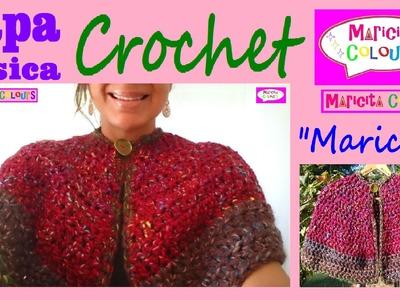"""Capa Básica * Mañanita a CROCHET Ganchillo """"Maricita"""" (Parte 2) Tutorial por Maricita Colours"""