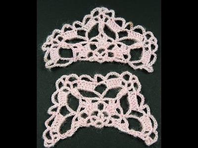 Crochet : Hexágono # 2.  Medio Hexágono
