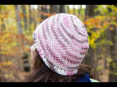 Crochet Tunecino : Gorro # 1.  Parte 2 de 2