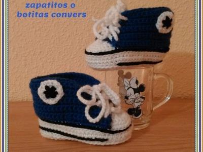 DIY Como tejer paso a paso zapatitos, zapatillas, patucos o escarpines para bebe a crochet 1