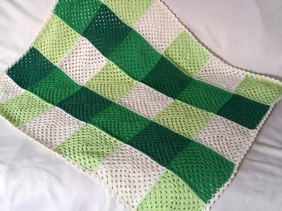 Manta patchwork en crochet - tejer manta granny square de BerlinCrochet