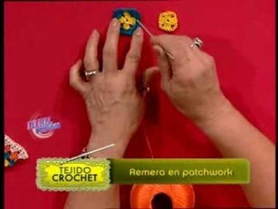 Mónica Astudillo - Bienvenidas TV - Teje en crochet una remera estilo patchwork.