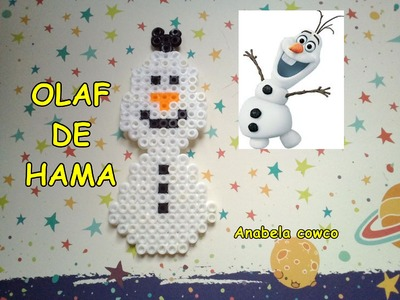 Olaf de frozen de hama bead pyssla perler