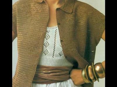Patrón Para Tejer Saco a crochet