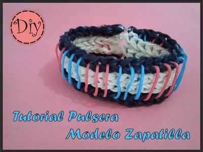 Pulsera Gomas Modelo Zapatilla