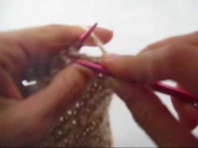 Tejer recto en aguja circular