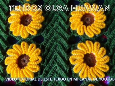 Tejido en crochet : video 2 , como tejer la flor