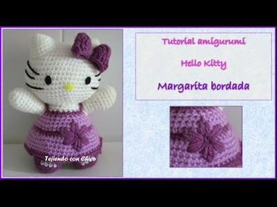 Tutorial amigurumi Hello Kitty - Margarita bordada