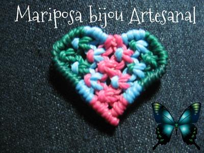 Tutorial corazon en nudo plano de macrame