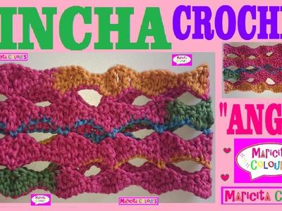 "Vincha ""Angie""  Diadema CROCHET TUTORIAL por Maricita Colours"