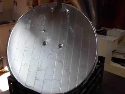 Construcción de un concentrador solar a partir de parabólica de 60cm desechada