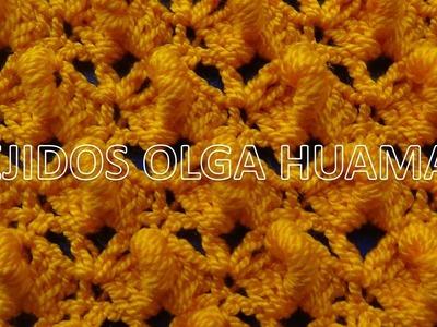 Crochet : punto abanicos con rococo
