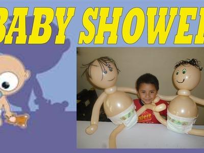 DECORACION CON GLOBOS BABY SHOWER BEBE PEQUEÑO