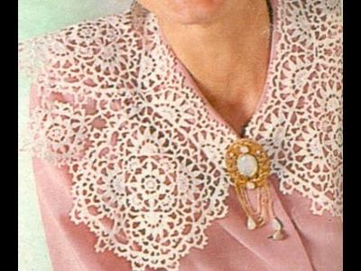 Esquemas Para tejer Cuello  a Ganchillo