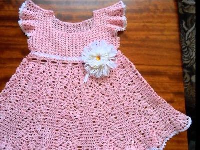 Faciles vestidos a crochet para niñas