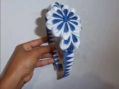 Flores y cintillos con cinta