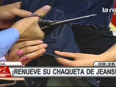 Fred Redondo enseña a renovar una chaqueta de jeans