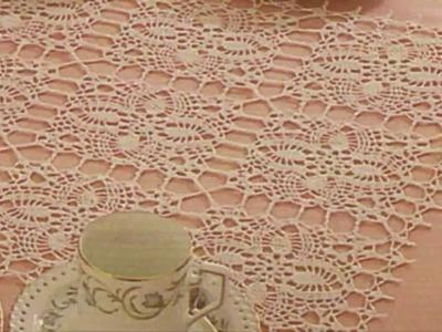 Mantel Con unión de Cuadros a Crochet