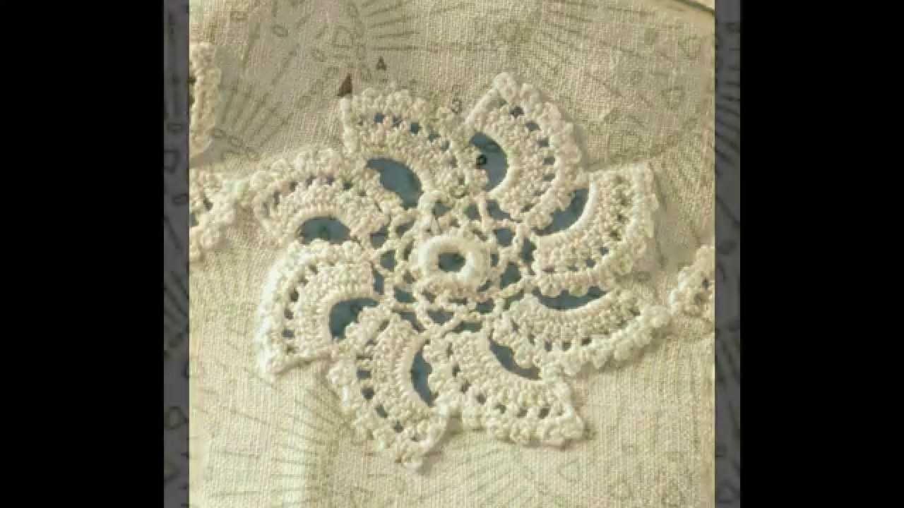 Patrón Para Mantel Con girándulas a Crochet