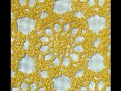 Patrón Para Tejer Tapetes Amarillos a Crochet
