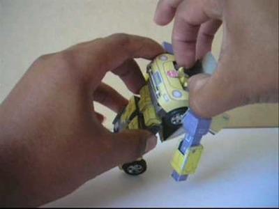 Transformers-papercraft: bumblebee