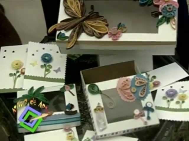 Atelier TV - Laura Meléndez. Quilling o Filigrana. Arte con cintas de papel