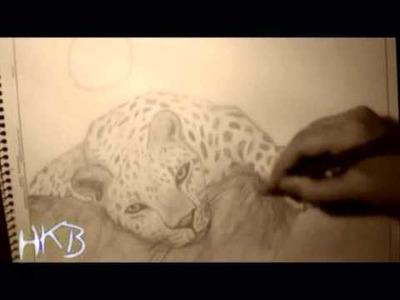 Cómo dibujar un leopardo (How draw a leopard) by Anahkb