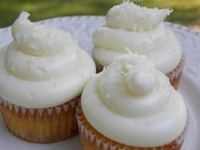 Cup Cakes de Piña con Coco. receta de postres. receta de pasteles