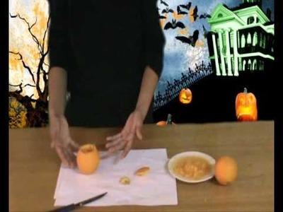 Decoracion para Halloween, Calabaza de Naranja