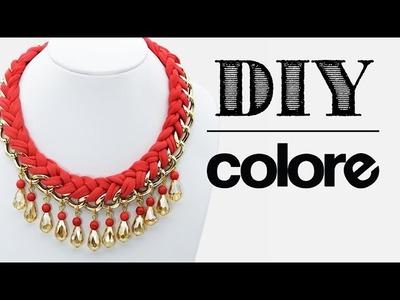 DIY Collar Trenzado con Cadena y Cristal | Colore Accesorios